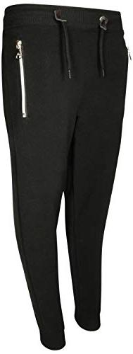 Galaxy by Harvic Boys Basic Fleece Active Jogger Pant with Z