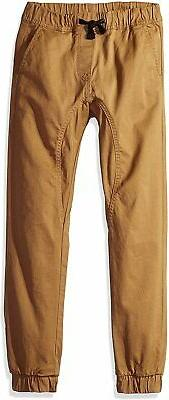 Southpole Boys' Big Jogger Pants in Basic Stretch Twill Fabr