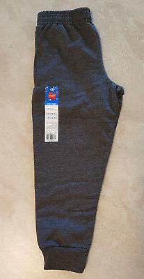 Boys Hanes Elastic Waist Jogger Fleece Sweat Pants:XS-S-M-L-