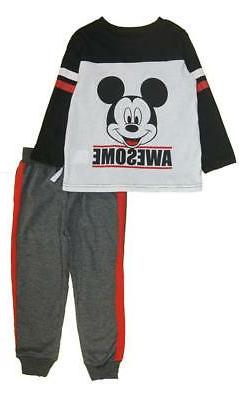 Mickey Mouse Boys L/S Top Two-Piece Jogger Set Set Size 2T 3