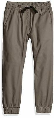 Southpole Boys' Little Basic Solid Stretch Twill Long Jogger