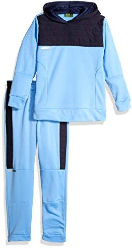 boys little pullover fleece hoodie and jogger