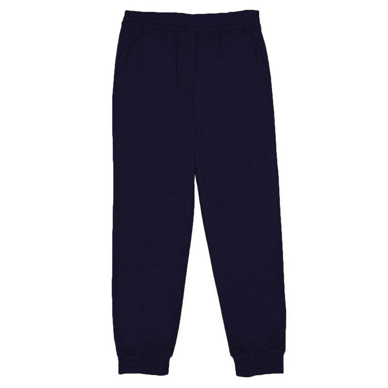 boys navy pull on jogger pants school