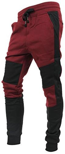 Hat and Beyond Casual Fleece Jogger Biker Pants Active Slim
