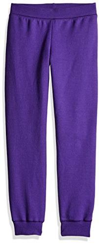Hanes ComfortSoft3; EcoSmart Girls' Jogger Sweatpants Purple