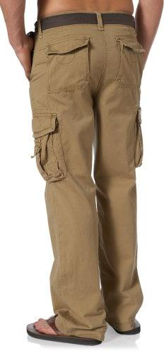Unionbay Relaxed Fit Cargo Pant - Reg and Tall Sizes, Rye, 32X30