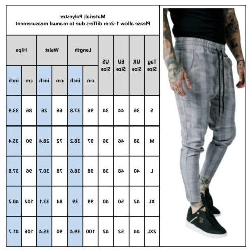 Fashion Mens Pants Slim Fit Skinny Casual Trousers
