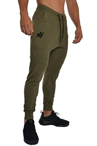 french terry cotton sweatpants jogger pants olive