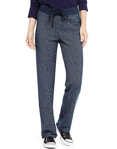 french terry pant navy heather