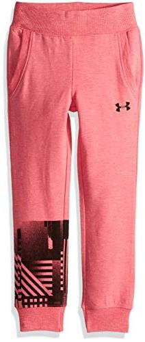 Under Armour Girls' Little Hundo, Penta Pink Jogger, 6X