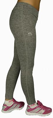 More Mile Heather Womens Training Pants Grey Exercise Fitnes
