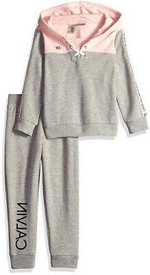 Calvin Klein Infant Girls Gray & Pink 2pc Jogger Set Size 12