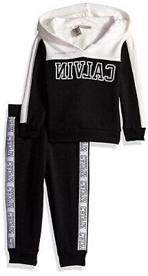 infant girls vanilla and black 2pc jogger