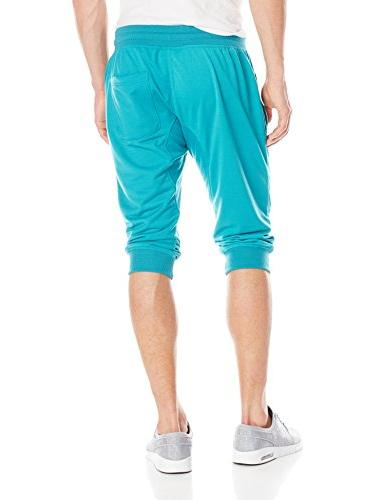 Southpole Men's Pants Active Basic 3/4 Length Teal X-Large