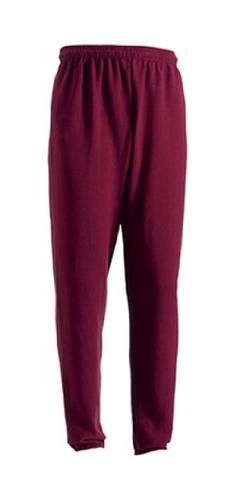 Russell Men's Jogger Sports Sweatpants Burgundy XL