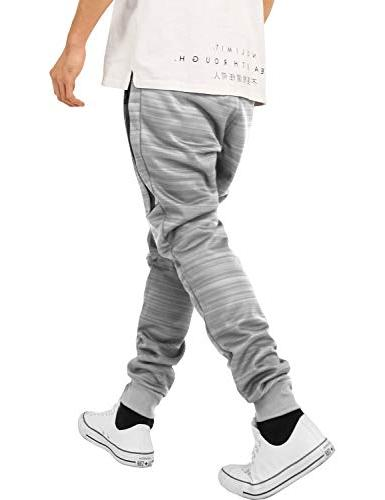 Hat Beyond Mens Joggers with Zipper Solid Basic Active