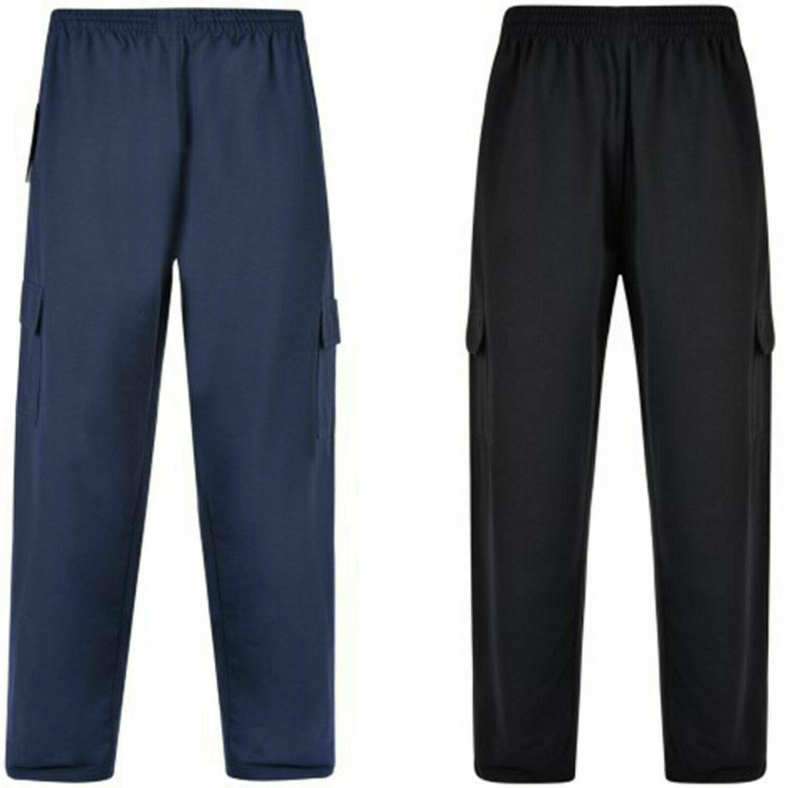 kam mens big tall joggers cargo bottom