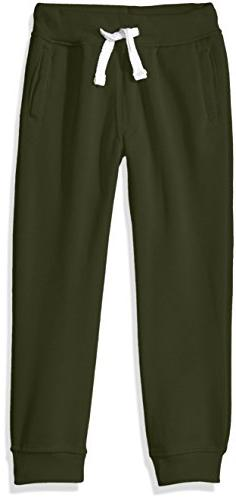 Southpole Little Boys' Active Basic Jogger Fleece Pants, Oli