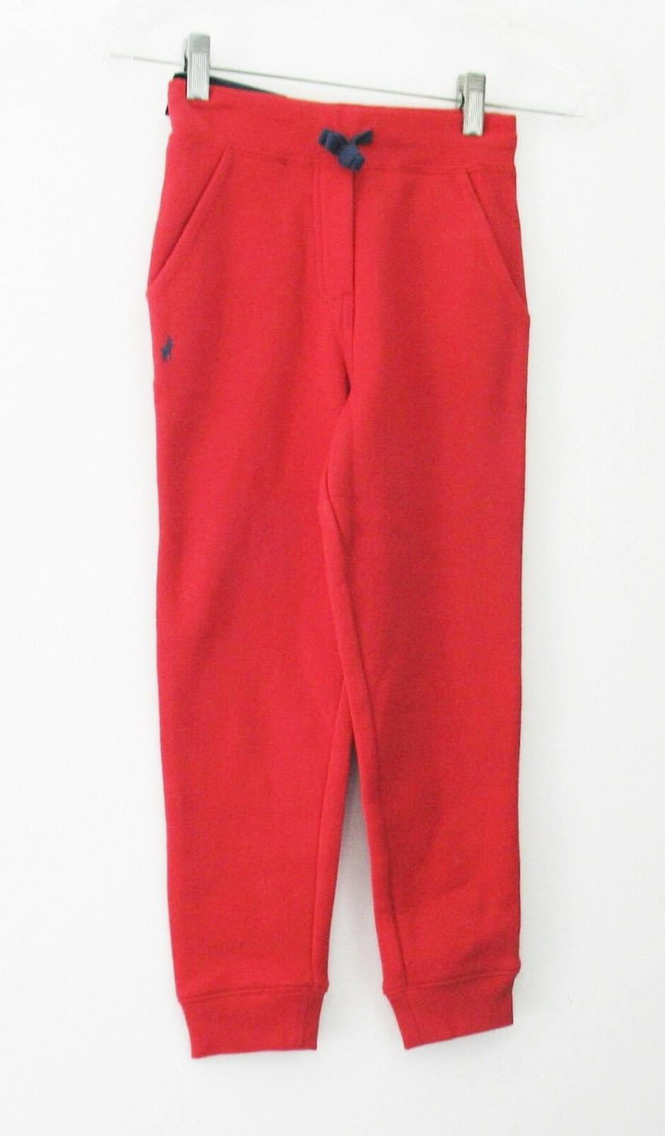 little boys fleece jogger pants red sz