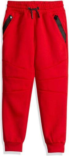 Southpole Little Boys' Kids Tech Fleece Jogger Pants, Red, L