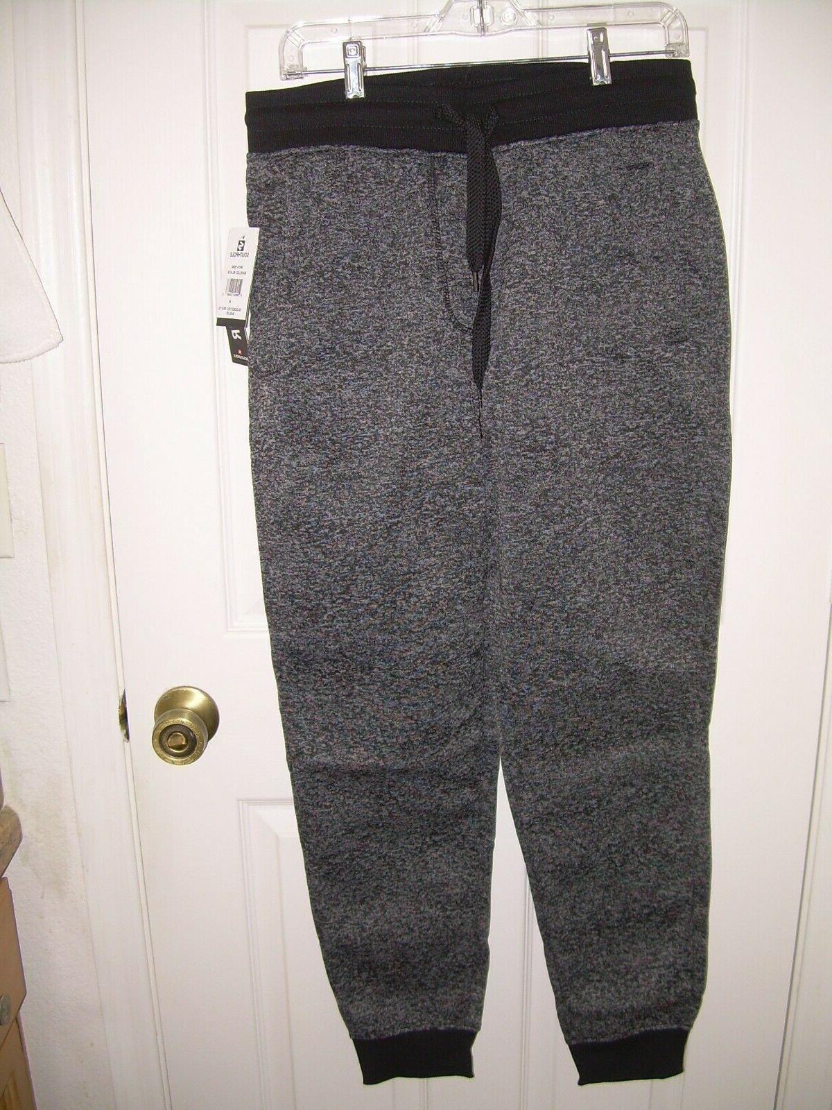 marled fleece jogger