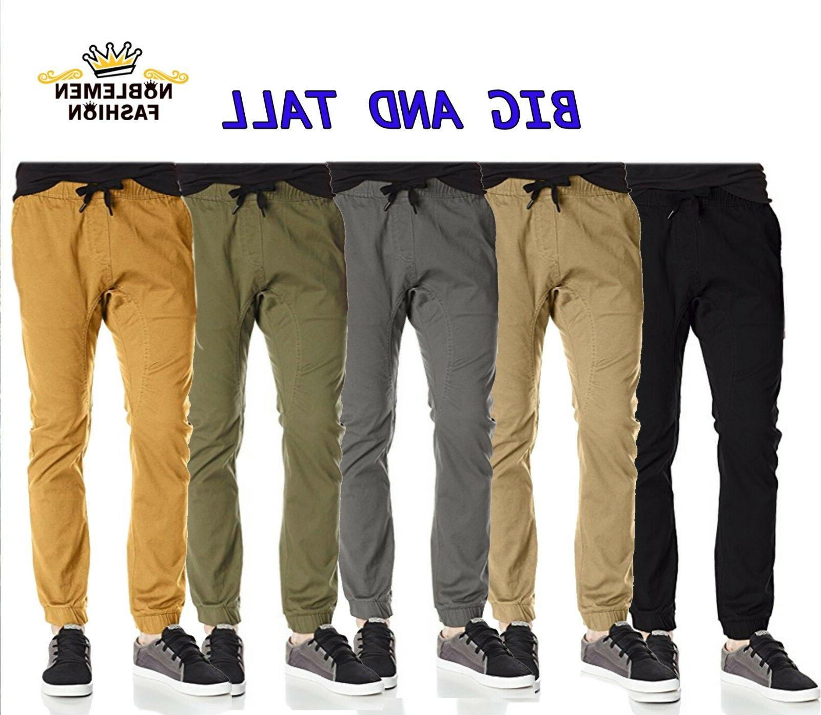 men big and tall joggers pants twill