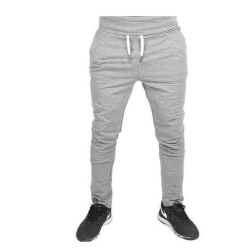 Men Casual Long Pants Fit Trousers Running Sweatpants