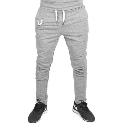 Men Pants Gym Slim Fit Trousers Running Joggers Gym Sweatpants