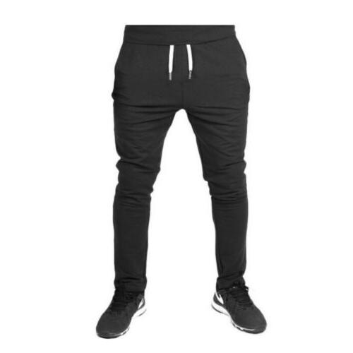 Men Casual Long Pants Slim Trousers Gym Sweatpants