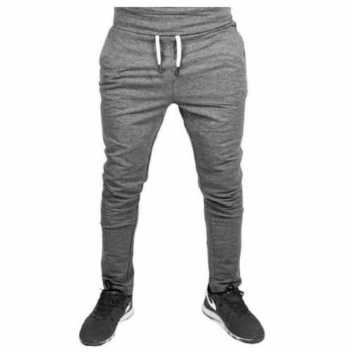 Men Casual Pants Fit Trousers Running Joggers Sweatpants