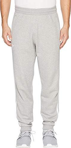 adidas Originals Men's 3-Stripes Pants, Medium Grey Heather,