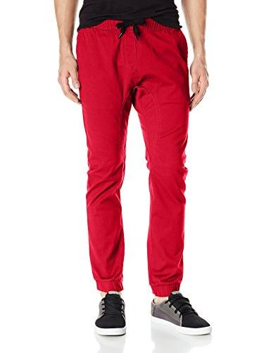 men s basic stretch twill jogger pants