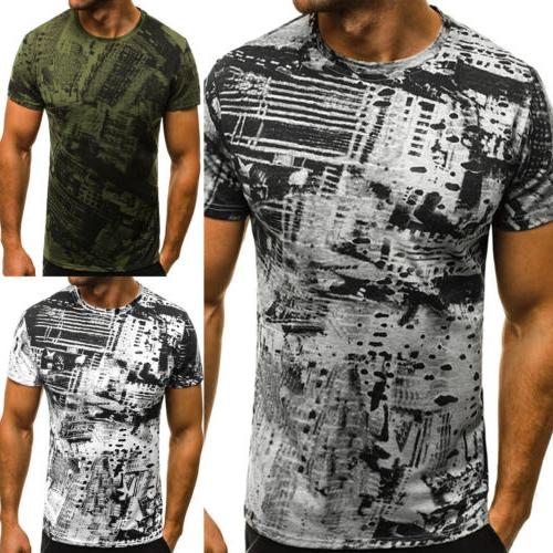 Men's Fitness Sleeve Casual Slim Fit Basic Tops