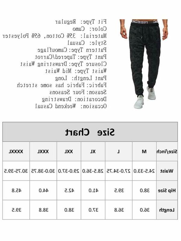 Sweatyrocks Men'S Sweatpant Camo Print Drawstring Joggers