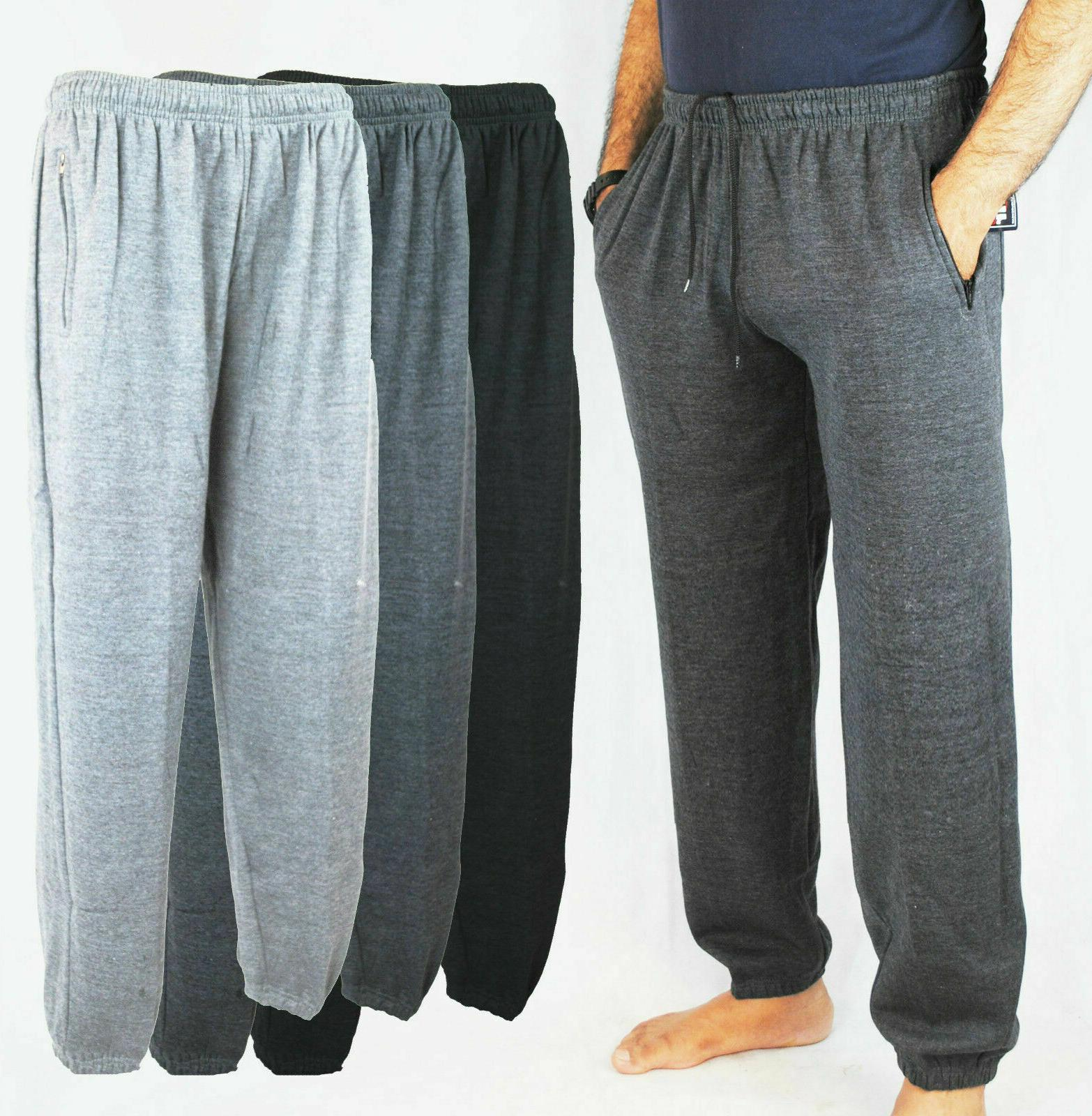 men s fleece joggers jogging tracksuit bottoms