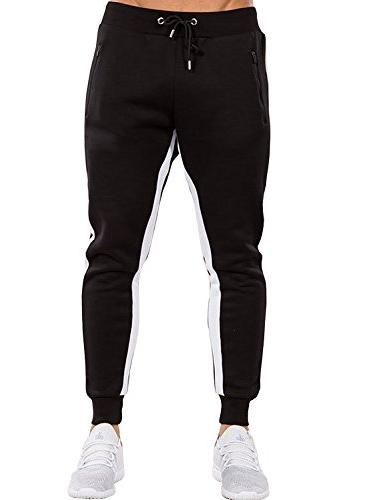 Ouber Men's Pants Slim Workout Running Pockets