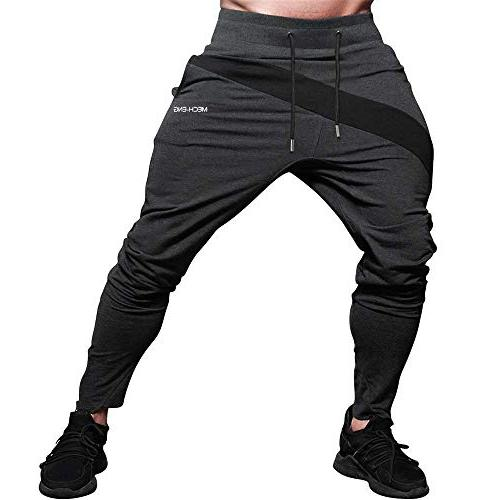 men s gym joggers pants fitness casual