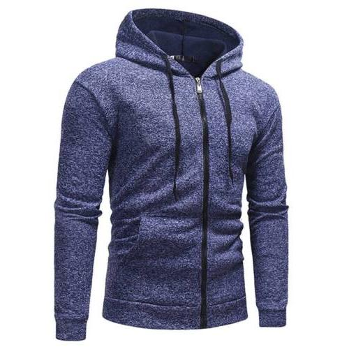 Men's Sleeve Muscle Up Pocket Sweater Shirt Athletic