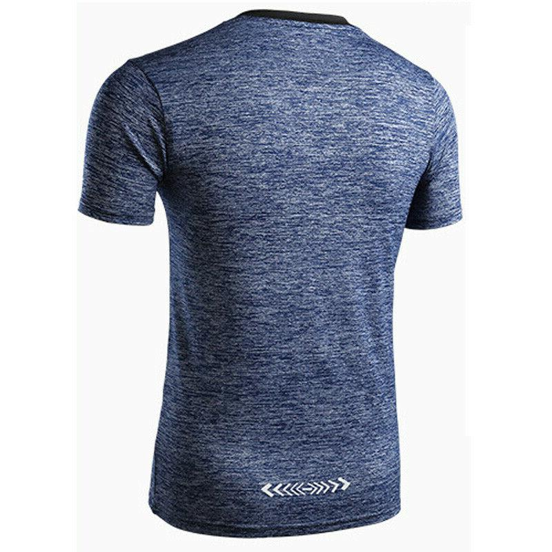 Men's Jogger Fitness Gym Sporty Fitted Dry Muscle Tee