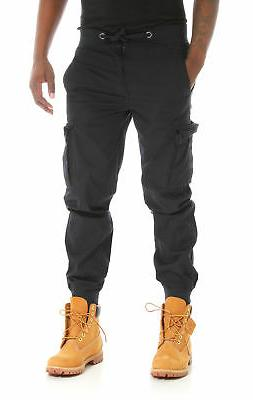 PJ Mark Men's Light Twill Slim Fit Cargo Jogger Pants