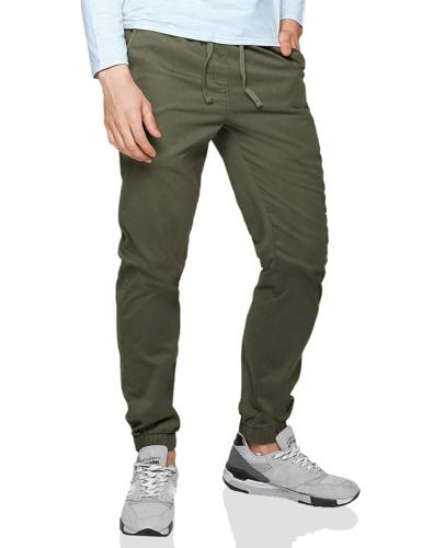 men s loose fit chino washed jogger