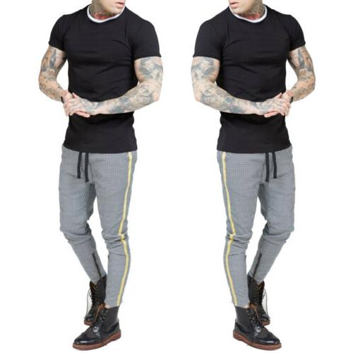 Men's Fit Trousers Skinny Joggers Bottoms USA