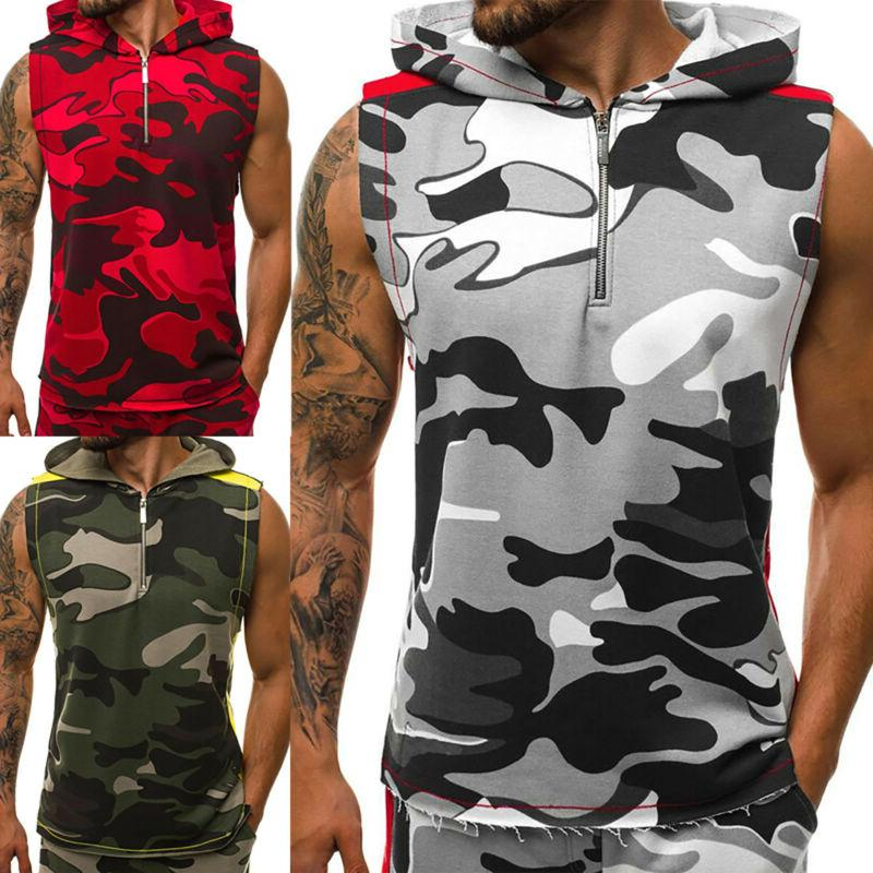 Men's Tops Shirts Hoodies Muscle Joggers Gym