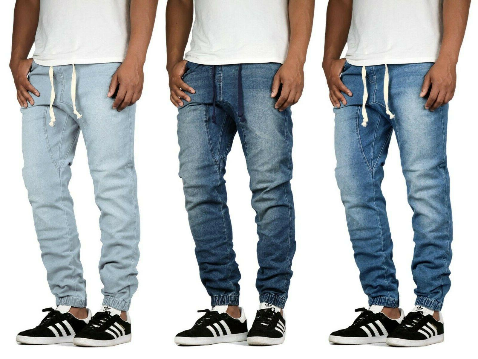 men s stretch slim drop crotch denim