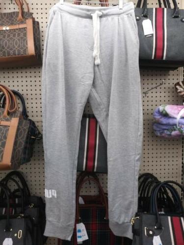 men s sweatpants sz l gray w