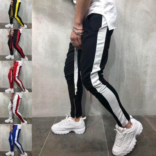 Men's Track Sports Bottoms Joggers Gym Trousers US