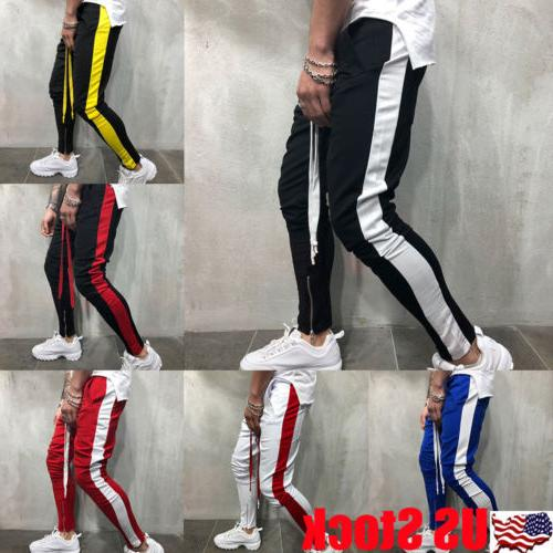 men s track pants casual sports jogging