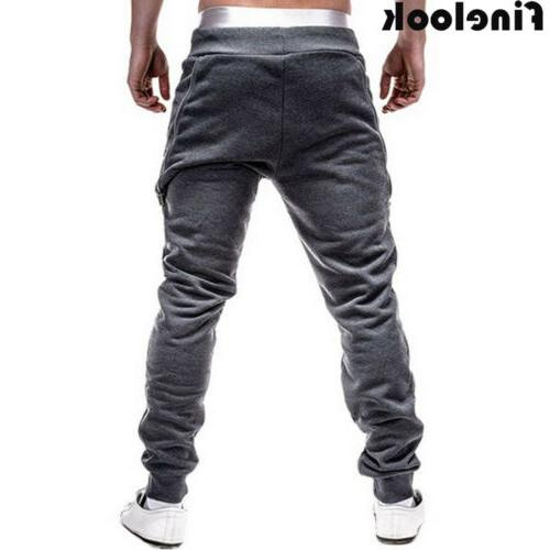 Men Sports Pants Trousers Fitness Workout Joggers Gym Sweatpants