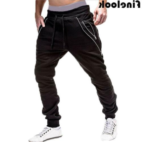 Men Sports Pants Long Trousers Fitness Workout Joggers Gym Sweatpants