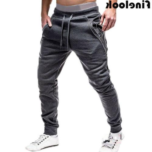 Men Sports Long Trousers Tracksuit